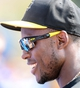 Mar 5, 2014; Dunedin, FL, USA; Pittsburg Pirates outfielder Starling Marte (6) talks with some fans before the spring training game between the Pittsburg Pirates  and Toronto Blue Jays at Florida Auto Exchange Park. Mandatory Credit: Jonathan Dyer-USA TODAY Sports