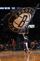 Mar 5, 2014; Brooklyn, NY, USA; The Brooklyn Knight performs during the fourth quarter of a game between the Brooklyn Nets and the Memphis Grizzlies at Barclays Center. The Nets defeated the Grizzlies 103-94. Mandatory Credit: Brad Penner-USA TODAY Sports