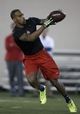 """Mar 7, 2014; Columbus, OH, USA; Ohio State Buckeyes wide receiver Corey """"Philly"""" Brown works out in front of NFL scouts on pro day  at The Woody Hayes Athletic Center. Mandatory Credit: Greg Bartram-USA TODAY Sports"""