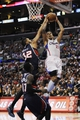 Mar 8, 2014; Los Angeles, CA, USA; Los Angeles Clippers forward Matt Barnes (22) attempts a shot defended by Atlanta Hawks forward Mike Scott (32) during the third quarter at Staples Center. The Los Angeles Clippers defeated the Atlanta Hawks 109-108. Mandatory Credit: Kelvin Kuo-USA TODAY Sports