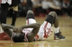 Mar 9, 2014; Houston, TX, USA; Houston Rockets point guard Patrick Beverley (2) lies on the court after being hit in the face during the overtime period against the Portland Trail Blazers at Toyota Center. Mandatory Credit: Andrew Richardson-USA TODAY Sports
