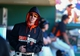 Mar 10, 2014; Scottsdale, AZ, USA; San Francisco Giants pitcher Tim Lincecum in the dugout during the game against the Chicago Cubs at Scottsdale Stadium. Mandatory Credit: Mark J. Rebilas-USA TODAY Sports