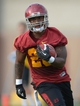 Mar 11, 2014; Los Angeles, CA, USA; Southern California Trojans tailback Tre Madden (23) at spring practice at Howard Jones Field. Mandatory Credit: Kirby Lee-USA TODAY Sports