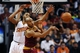 Mar 12, 2014; Phoenix, AZ, USA; Cleveland Cavaliers guard Jarrett Jack (1) makes a pass against Phoenix Suns forward Markieff Morris (11) in the second half at US Airways Center. The Cavaliers won 110-101.  Mandatory Credit: Jennifer Stewart-USA TODAY Sports
