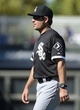 Mar 16, 2014; Surprise, AZ, USA; Chicago White Sox manager Robin Ventura (23) makes a pitching change during the sixth inning against the Texas Rangers at Surprise Stadium. Mandatory Credit: Christopher Hanewinckel-USA TODAY Sports