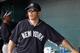 Feb 26, 2014; Bradenton, FL, USA; New York Yankees manager Joe Girardi (28) against the Pittsburgh Pirates at McKechnie Field. Mandatory Credit: Kim Klement-USA TODAY Sports