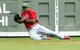 Mar 17, 2014; Fort Myers, FL, USA; St. Louis Cardinals center fielder Jon Jay (19) makes a sliding catch against the Boston Red Sox during the first inning at JetBlue Park. Mandatory Credit: Jerome Miron-USA TODAY Sports