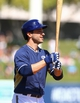 Mar 18, 2014; Phoenix, AZ, USA; Milwaukee Brewers outfielder Ryan Braun against the Texas Rangers at Maryvale Baseball Park. Mandatory Credit: Mark J. Rebilas-USA TODAY Sports