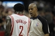 Mar 20, 2014; Houston, TX, USA; Houston Rockets guard Patrick Beverley (2) argues with referee Leon Wood (40) during the second quarter against the Minnesota Timberwolves at Toyota Center. Mandatory Credit: Andrew Richardson-USA TODAY Sports