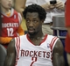 Mar 20, 2014; Houston, TX, USA; Houston Rockets guard Patrick Beverley (2) sits on the bench during the second quarter against the Minnesota Timberwolves at Toyota Center. Mandatory Credit: Andrew Richardson-USA TODAY Sports