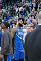 Mar 22, 2014; Salt Lake City, UT, USA; Orlando Magic forward Kyle O'Quinn (2) leaves the court after losing to the Utah Jazz 89-88 at EnergySolutions Arena. Mandatory Credit: Russ Isabella-USA TODAY Sports