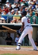 Mar 14, 2014; Lake Buena Vista, FL, USA; Atlanta Braves center fielder B.J. Upton (2) at bat against the Tampa Bay Rays at Champion Stadium. Mandatory Credit: Kim Klement-USA TODAY Sports