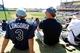 Mar 14, 2014; Lake Buena Vista, FL, USA; Tampa Bay Rays fans watch the game against the Atlanta Braves at Champion Stadium. Mandatory Credit: Kim Klement-USA TODAY Sports