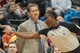 Mar 23, 2014; Minneapolis, MN, USA; Referee James Williams gives Phoenix Suns assistant coach Mike Longabardi (not pictured) a technical foul in front of Phoenix Suns head coach Jeff Hornacek in the third quarter at Target Center. Phoenix wins 127-120. Mandatory Credit: Brad Rempel-USA TODAY Sports