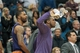 Mar 23, 2014; Minneapolis, MN, USA; Phoenix Suns forward Marcus Morris (left) and guard Eric Bledsoe (right) cheer in the fourth quarter against the Minnesota Timberwolves at Target Center. Phoenix wins 127-120. Mandatory Credit: Brad Rempel-USA TODAY Sports