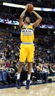 Mar 23, 2014; Denver, CO, USA; Denver Nuggets power forward Anthony Randolph (15) shoots the ball in the third quarter against the Washington Wizards at the Pepsi Center. The Nuggets won 105-102. Mandatory Credit: Isaiah J. Downing-USA TODAY Sports