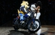 Mar 23, 2014; Denver, CO, USA; The Denver Nuggets mascot Rocky rides a motorcycle on the court prior to the game against the Washington Wizards at the Pepsi Center. The Nuggets won 105-102. Mandatory Credit: Isaiah J. Downing-USA TODAY Sports