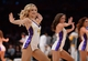 Mar 23, 2014; Los Angeles, CA, USA; The Los Angeles Lakers girls dance on the court during a stoppage in play against the Orlando Magic at Staples Center. Mandatory Credit: Kirby Lee-USA TODAY Sports