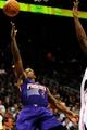 Mar 24, 2014; Atlanta, GA, USA; Phoenix Suns guard Eric Bledsoe (2) shoots against the Atlanta Hawks during the first half at Philips Arena. Mandatory Credit: Dale Zanine-USA TODAY Sports