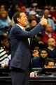Mar 24, 2014; Atlanta, GA, USA; Phoenix Suns head coach Jeff Hornacek reacts during the game against the Atlanta Hawks during the first half at Philips Arena. Mandatory Credit: Dale Zanine-USA TODAY Sports