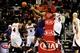 Mar 24, 2014; Atlanta, GA, USA; Phoenix Suns forward P.J. Tucker (17) blocks a pass by Atlanta Hawks forward DeMarre Carroll (5) during the second half at Philips Arena. The Suns defeated the Hawks 102-95. Mandatory Credit: Dale Zanine-USA TODAY Sports