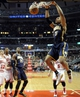 Mar 24, 2014; Chicago, IL, USA; Indiana Pacers forward David West (21) dunks against the Chicago Bulls during the second half at the United Center. the Chicago Bulls defeated the Indiana Pacers 89-77. Mandatory Credit: David Banks-USA TODAY Sports