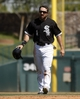 Mar 26, 2014; Phoenix, AZ, USA; Chicago White Sox left fielder Adam Eaton (1) during the third inning against the Cincinnati Reds at Camelback Ranch. Mandatory Credit: Rick Scuteri-USA TODAY Sports