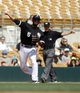 Mar 26, 2014; Phoenix, AZ, USA; Chicago White Sox shortstop Marcus Semien (5) makes the play for the out against the Cincinnati Reds in the third inning at Camelback Ranch. Mandatory Credit: Rick Scuteri-USA TODAY Sports