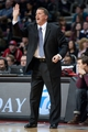 Mar 26, 2014; Auburn Hills, MI, USA; Detroit Pistons head coach John Loyer during the first quarter against the Cleveland Cavaliers at The Palace of Auburn Hills. Mandatory Credit: Tim Fuller-USA TODAY Sports