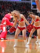 Mar 28, 2014; Chicago, IL, USA; A Chicago Bulls dance team member performs during the second half against the Portland Trail Blazers at the United Center. Portland won 91-74. Mandatory Credit: Dennis Wierzbicki-USA TODAY Sports