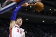 Mar 28, 2014; Auburn Hills, MI, USA; Detroit Pistons forward Jonas Jerebko (33) dunks in the second half against the Miami Heat at The Palace of Auburn Hills. Miami won 110-78. Mandatory Credit: Rick Osentoski-USA TODAY Sports