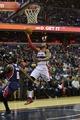 Mar 29, 2014; Washington, DC, USA; Washington Wizards guard John Wall (2) shoots a lay up on a fast break during the second quarter against the Atlanta Hawks at Verizon Center. Mandatory Credit: Tommy Gilligan-USA TODAY Sports