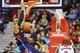 Mar 29, 2014; Washington, DC, USA; Atlanta Hawks forward Mike Scott (32) dunks the ball during the second quarter against the Washington Wizards at Verizon Center. Mandatory Credit: Tommy Gilligan-USA TODAY Sports