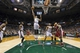 Mar 29, 2014; Milwaukee, WI, USA; Milwaukee Bucks guard Giannis Antetokounmpo (34) reaches for a rebound during the third quarter against the Miami Heat at BMO Harris Bradley Center. Mandatory Credit: Jeff Hanisch-USA TODAY Sports