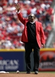 Mar 31, 2014; Cincinnati, OH, USA; Cincinnati Reds former player Joe Morgan brings out the game ball prior to the game against the St. Louis Cardinals at Great American Ball Park. Mandatory Credit: Frank Victores-USA TODAY Sports