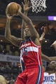 Mar 31, 2014; Charlotte, NC, USA; Washington Wizards forward Trevor Booker (35) goes up for a shot during the first half against the Charlotte Bobcats at Time Warner Cable Arena. Mandatory Credit: Jeremy Brevard-USA TODAY Sports