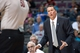 Mar 31, 2014; Auburn Hills, MI, USA; Detroit Pistons head coach John Loyer gestures from the sidelines during the third quarter against the Milwaukee Bucks at The Palace of Auburn Hills. Pistons won 116-111. Mandatory Credit: Tim Fuller-USA TODAY Sports