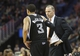 Mar 31, 2014; New Orleans, LA, USA; Sacramento Kings head coach Michael Malone talks with guard Ray McCallum (3) in the second half against the New Orleans Pelicans at the Smoothie King Center. Sacramento defeated New Orleans 102-97. Mandatory Credit: Crystal LoGiudice-USA TODAY Sports