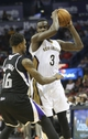 Mar 31, 2014; New Orleans, LA, USA; New Orleans Pelicans guard Anthony Morrow (3) is defended by Sacramento Kings guard Ben McLemore (16) in the second half at the Smoothie King Center. Sacramento defeated New Orleans 102-97. Mandatory Credit: Crystal LoGiudice-USA TODAY Sports