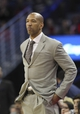 Mar 31, 2014; New Orleans, LA, USA; New Orleans Pelicans head coach Monty Williams watches in the second half against the Sacramento Kings at the Smoothie King Center. Sacramento defeated New Orleans 102-97. Mandatory Credit: Crystal LoGiudice-USA TODAY Sports