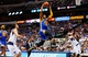 Apr 1, 2014; Dallas, TX, USA; Golden State Warriors forward Andre Iguodala (9) dunks during the second quarter against the Dallas Mavericks at American Airlines Center. Mandatory Credit: Kevin Jairaj-USA TODAY Sports