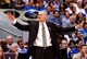 Apr 1, 2014; Dallas, TX, USA; Dallas Mavericks head coach Rick Carlisle reacts during the second quarter against the Golden State Warriors at American Airlines Center. Mandatory Credit: Kevin Jairaj-USA TODAY Sports