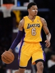 Apr 1, 2014; Los Angeles, CA, USA; Los Angeles Lakers guard Kent Bazemore (6) during the second half of the game against the Portland Trail Blazers at Staples Center. Trail Blazers won 124-112. Mandatory Credit: Jayne Kamin-Oncea-USA TODAY Sports