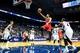 Apr 2, 2014; Atlanta, GA, USA; Chicago Bulls guard D.J. Augustin (14) shoots a basket in the first half against the Atlanta Hawks at Philips Arena. Mandatory Credit: Daniel Shirey-USA TODAY Sports