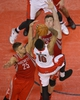 Apr 2, 2014; Toronto, Ontario, CAN; Toronto Raptors guard DeMar DeRozan (10) is fouled by Houston Rockets center Omer Asik (3) and forward Chandler Parsons (25) at Air Canada Centre. The Raptors beat the Rockets 107-103. Mandatory Credit: Tom Szczerbowski-USA TODAY Sports