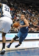 Apr 2, 2014; Minneapolis, MN, USA;  Minnesota Timberwolves guard Jose Barea (11) drives to the basket in the fourth quarter against the Memphis Grizzlies at Target Center. The Wolves defeated the Grizzlies 102-88.  Mandatory Credit: Marilyn Indahl-USA TODAY Sports