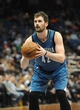 Apr 2, 2014; Minneapolis, MN, USA;  Minnesota Timberwolves forward Kevin Love (42) shoots a free throw in the fourth quarter against the Memphis Grizzlies at Target Center. The Wolves defeated the Grizzlies 102-88.  Mandatory Credit: Marilyn Indahl-USA TODAY Sports
