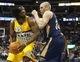 Apr 2, 2014; Denver, CO, USA; Denver Nuggets forward Kenneth Faried (35) moves towards the basket against New Orleans Pelicans center Greg Stiemsma (34) during the second half at Pepsi Center.  The Nuggets won 137-107.  Mandatory Credit: Chris Humphreys-USA TODAY Sports