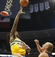 Apr 2, 2014; Denver, CO, USA; Denver Nuggets forward Kenneth Faried (35) shoots the ball during the second half against the New Orleans Pelicans at Pepsi Center.  The Nuggets won 137-107.  Mandatory Credit: Chris Humphreys-USA TODAY Sports