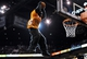 Apr 2, 2014; Phoenix, AZ, USA; The Phoenix Suns mascot the Gorilla dunks the ball during the fourth quarter against the Los Angeles Clippers at US Airways Center. The Clippers won 112-108. Mandatory Credit: Casey Sapio-USA TODAY Sports